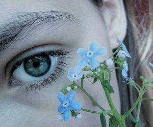 flowers and eye image