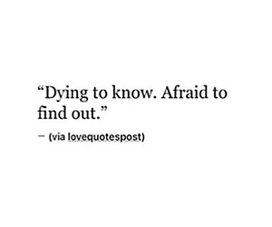 quotes, afraid, and know image