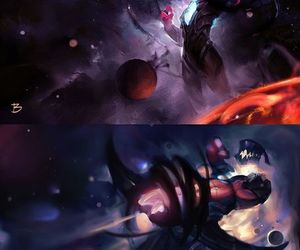 league of legends, crow god, and darkstar varus image