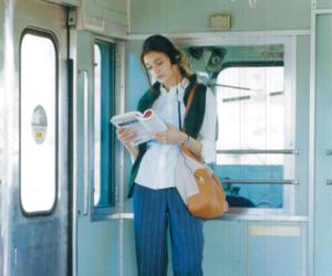 girl, photo, and train image