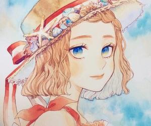 girl, seashell, and summer image