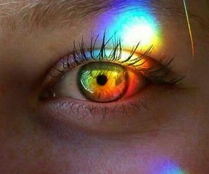 eye, rainbow, and tumblr image
