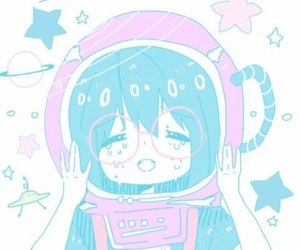 pastel, cute, and space image