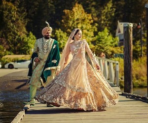 couple, dress, and indian image