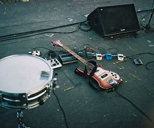 guitar, drums, and music image