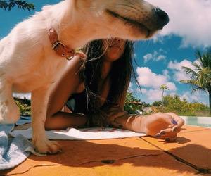 girl dog image
