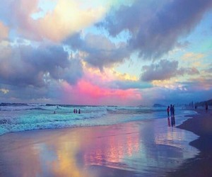 beach, sky, and colors image