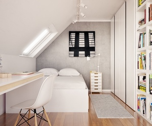 attic, bedroom, and home image