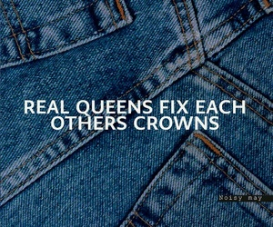 crown, girl power, and jeans image