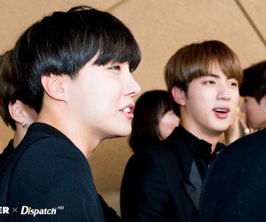 jhope, bts, and jin image