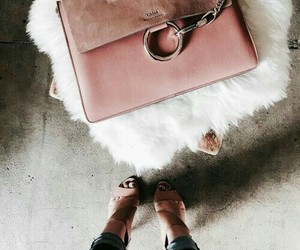 bag, pink, and velour image