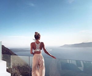 girl, beauty, and landscape image