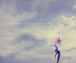 balloons, world, and quote image
