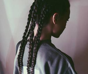 girl, braids, and hairstyle image