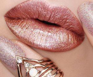 beauty, lips, and glitter image