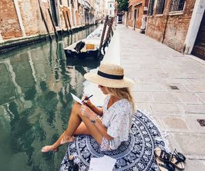 girl, travel, and traveling image