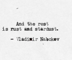 quote, stardust, and rust image