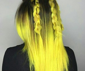 hair, pretty, and yellow image