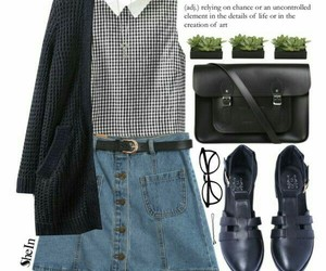 grunge, outfit, and skirt image