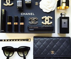 black, chanel, and coco chanel image