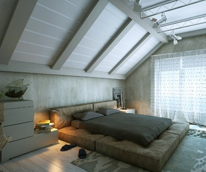 bedroom, design, and bed image
