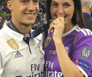 family, lucas vazquez, and real madrid image