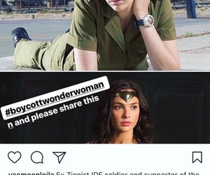 wonder woman, zionist, and boycott wonder woman image