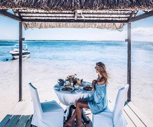 beach, breakfast, and food image