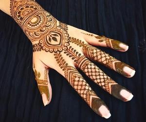 beautiful, desing, and mehndi image