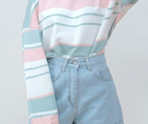 pastel, outfit, and blue image