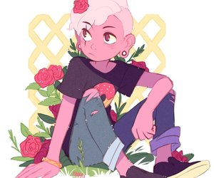 boy, pink, and love image