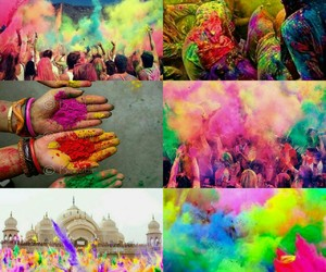 colors, happy, and holi festival image