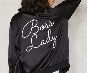 fashion, boss lady, and bomber jacket image