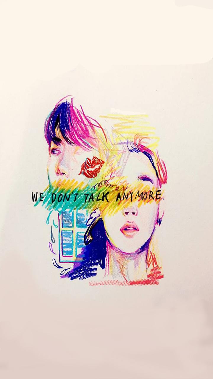 Wallpaper Bts We Don T Talk Anymore Jk Jm