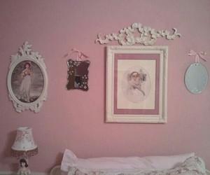 bedroom, interior, and mirror image
