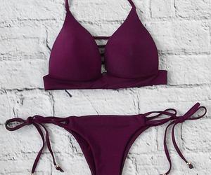 swimsuit, bathing suit, and bikini image