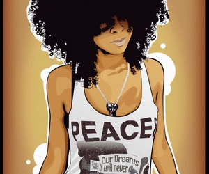 hair, Afro, and peace image