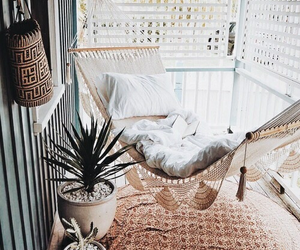 home, hammock, and decor image