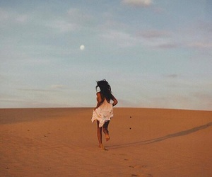 desert, girl, and photography image