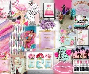 chanel, morado, and pink image