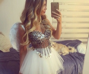 angel, costume, and girl image