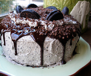 cake, oreo, and chocolate image