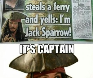 funny, captain, and pirate image