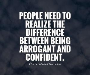 confident and arrogant image