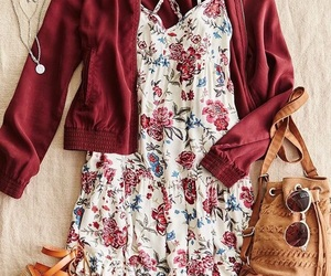 cool, red, and dress image