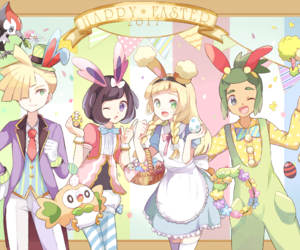 anime, gladion, and lillie image