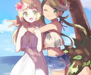 anime, friends, and lillie image