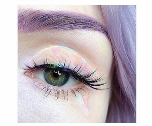 eyes, purple, and makeup image