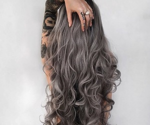 hair, tattoo, and style image