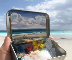 art, painting, and ocean image